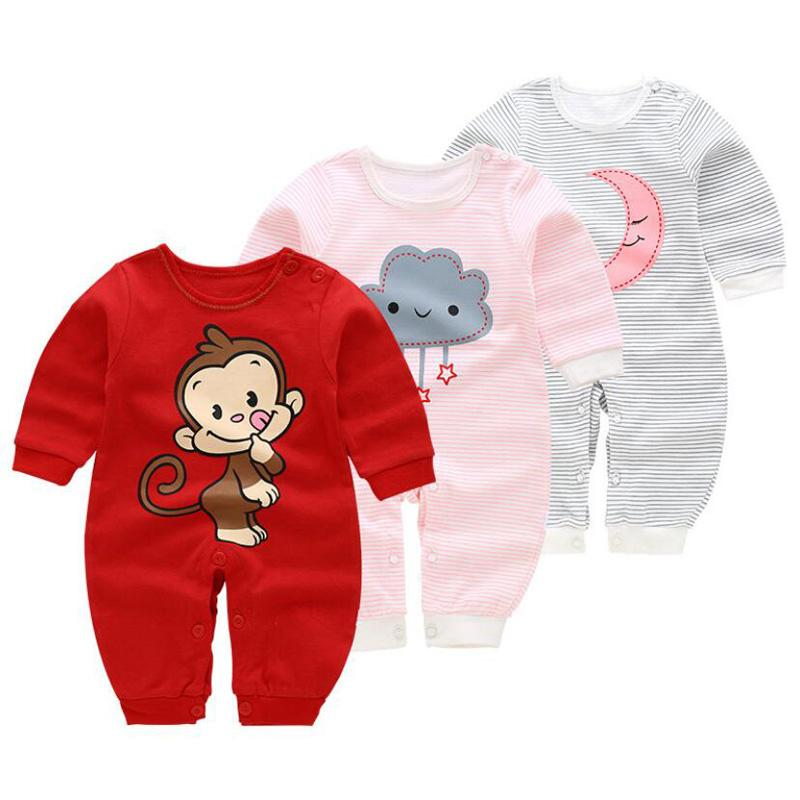 e87ba0bc9aa 2019 Newborn Baby Rompers Boy Playsuit Clothes Cotton Cute Jumpsuit Infant  Girl Body Romper Clothing For 0 12M From Buycenter