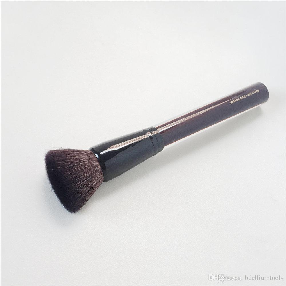 Kevyn Aucion The Soft Buff Brush Luxuriously Soft Goat Hair Flat Top Complexion Foundation Powder Brush Beauty Makeup Brush Blender Tool Professional Makeup ...