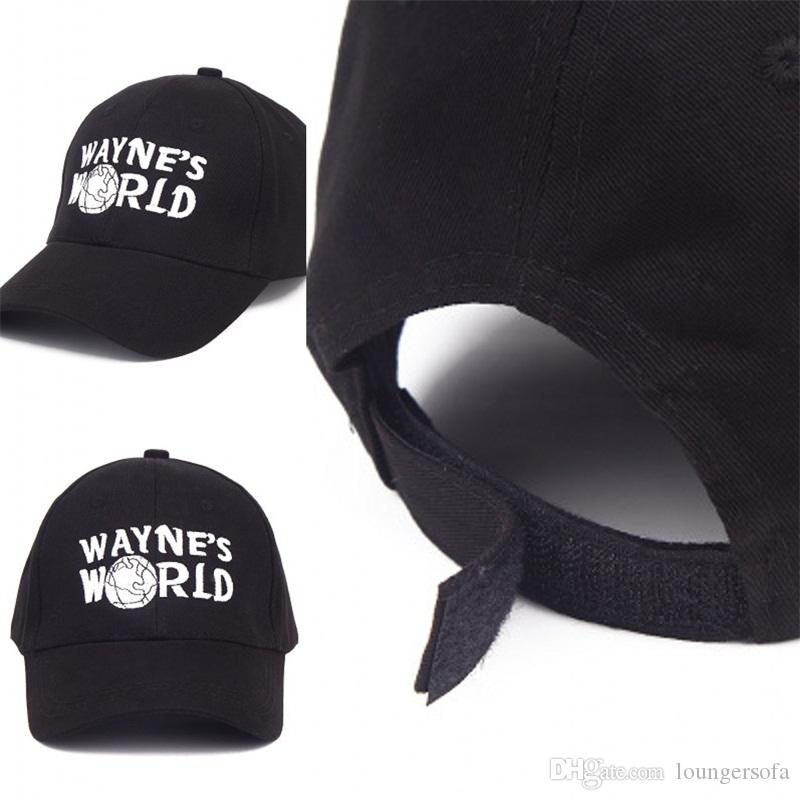 ab69513cbce 2018 Wayne World Black Cap Hat Baseball Caps Costume Fashion Style Cosplay  Embroidered Trucker Hat Unisex Mesh Adjustable Size 13 9kb Dd From  Loungersofa