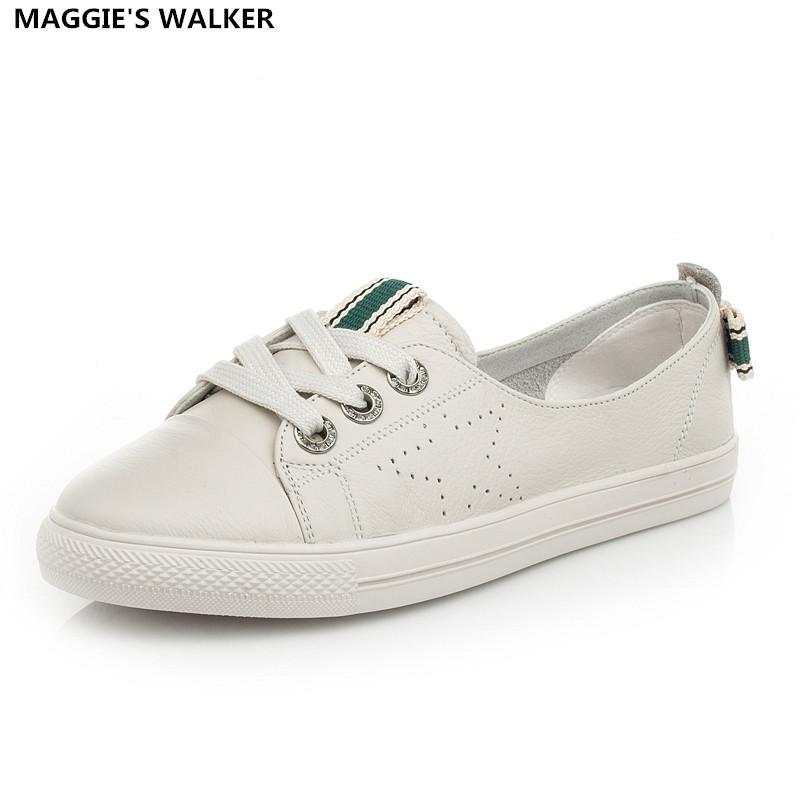 de cuir sport femmes en chaussures véritable plates Maggie's Walker qxtwYPwv