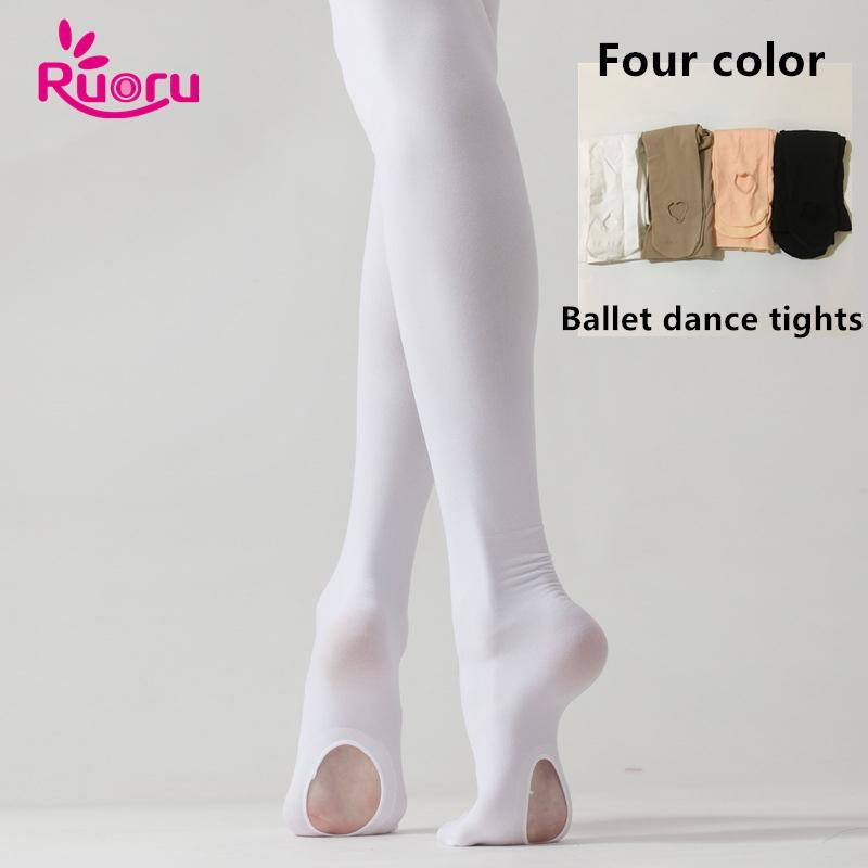 f15b6524dad 2019 Ruoru Professional Kids Children Girls Ballet Tights White Ballet  Dance Leggings Pantyhose With Hole Nude Black Pink Stocking From Beenling