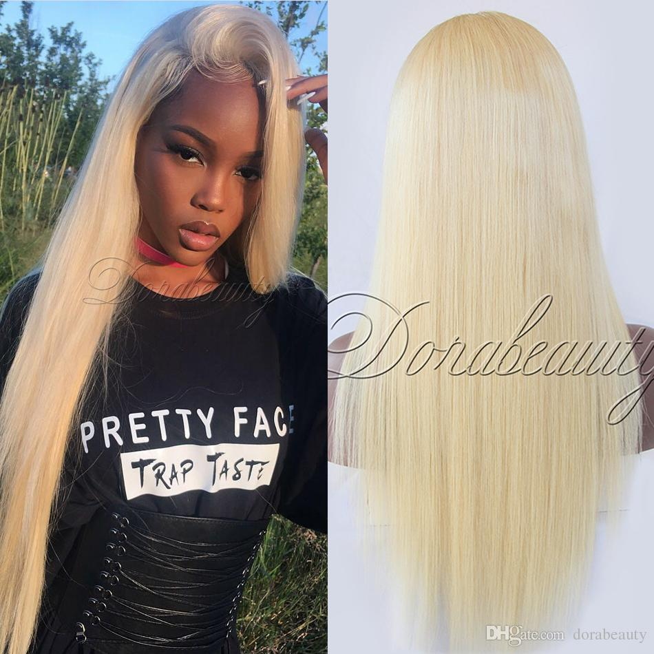 360 Lace Wigs Pre Plucked 150% Density Straight Blonde Lace Frontal Wigs  Peruvian Virgin Full Lace Human Hair Wigs For Black Women Hair Wigs Uk Half  Wig ... f5e47de6e5