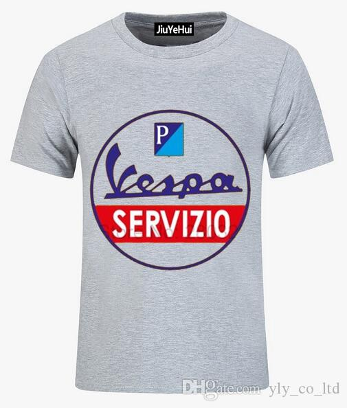 Italiana Camiseta Encargo Hombre Personalizada Hombres Vintage 2018 Tee Leyenda Por Vespa Servicio Servizio Scooter IeHW9E2DY
