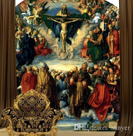Wholesale European Mural Wallpaper Mural Jesus Christ Church