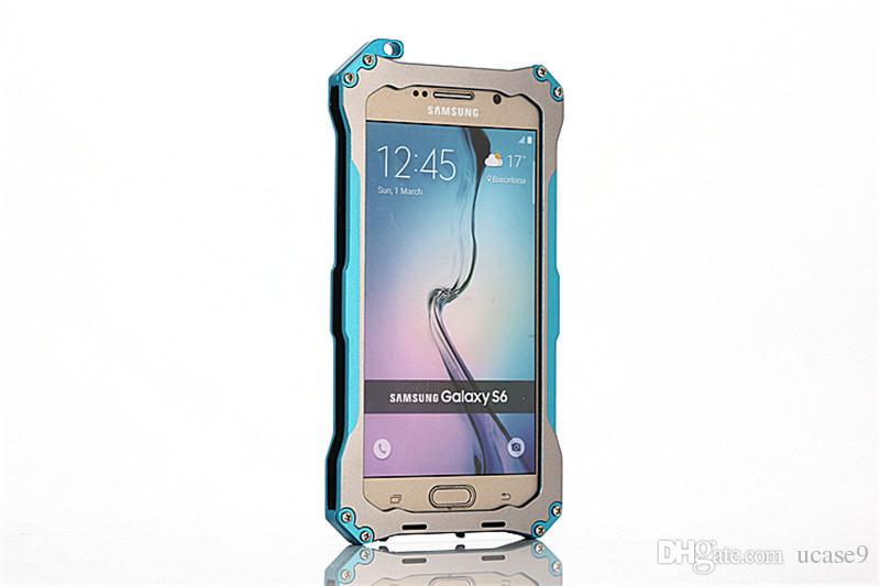 2018 Wholesale Metal Shell Protective Aluminum Armor Outdoor Shockproof Waterproof Dustproof Mobile Phone Case for Samsung 6
