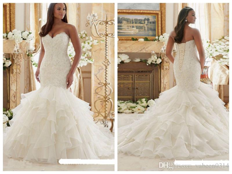 2018 European New Slim Fishtail Bra Wedding Dressessmall Trailing