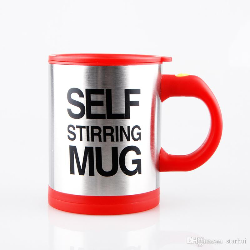Creation Automatic Electric Coffee Mugs Stainless Steel Lazy Drinking Cup Drinkware Gifts With Retail Pack 400-500ML WX9-226