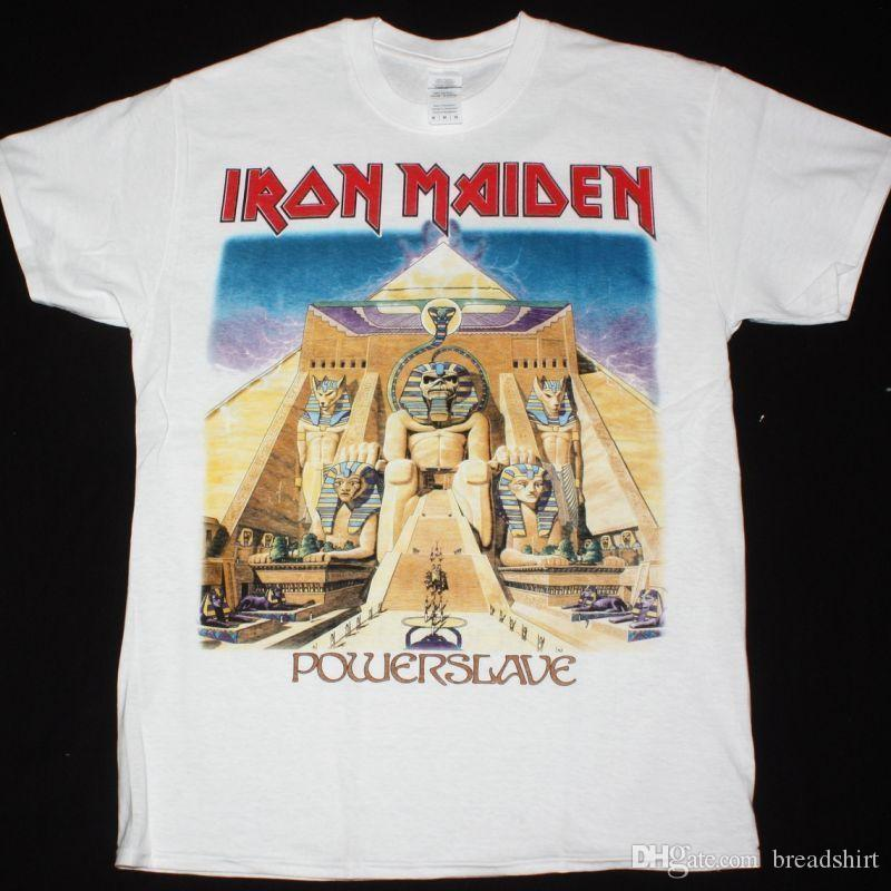 ea1086933e Compre Camiseta De Iron Maiden Powerslave World Slaver Tour Camiseta  Superior RERPRINT A $10.49 Del Breadshirt   DHgate.Com