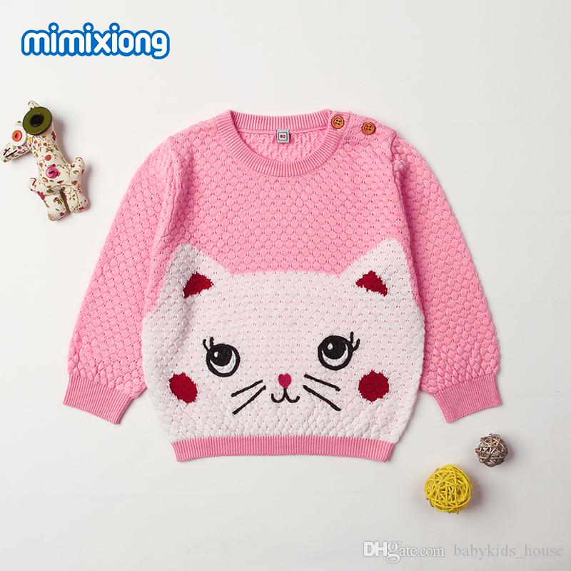 35df99ea4 Spring Autumn Newborn Baby Boys Sweater Adorable Cat Knit Toddler ...