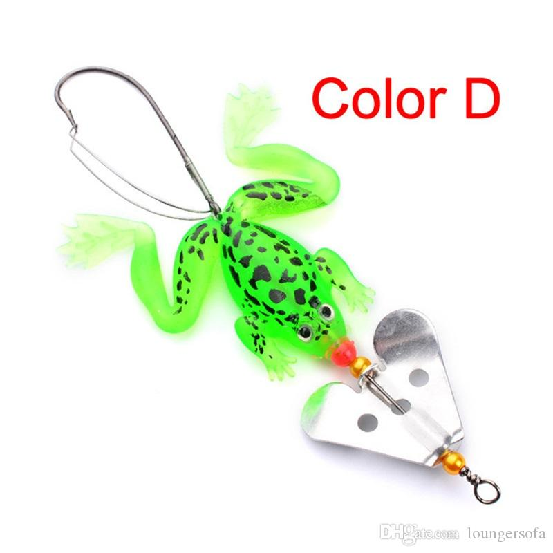Bionic Frog Fish Appits Avec Rotate Sheet Metal 4 Couleur Doux Leurres Pratiques Outils De Pêche Usine Vente Directe 1 6hw X