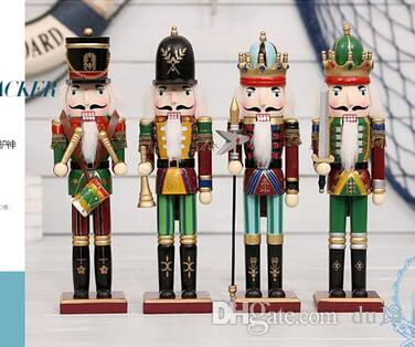 wholesale Special offer 30cm Nutcracker Christmas ornaments Home Furnishing puppet soldiers Zakka wedding