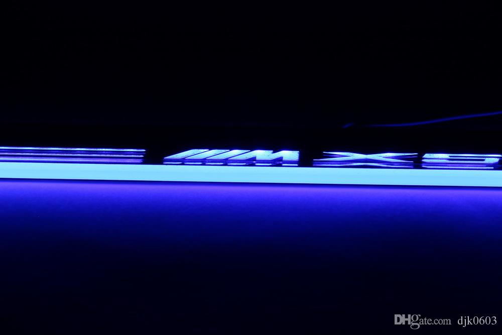 LED moving light scuff pedal for BMW X5 E70 2013 2014 2015 car acrylic led door sill welcome pedal