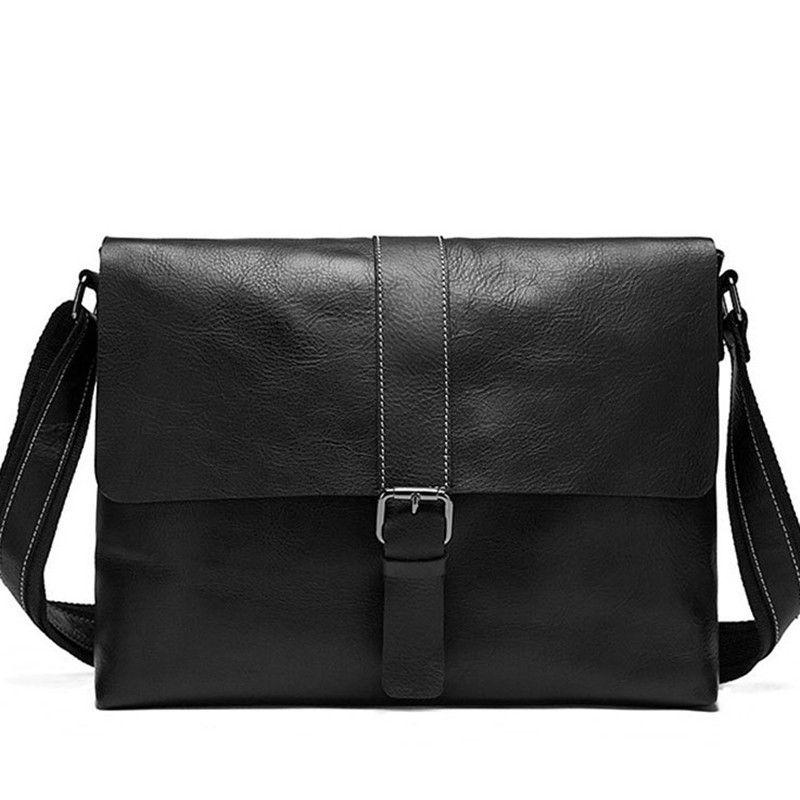 ccd93c0cd Men's Shoulder Bag Men's Bags Genuine Leather Crossbody Bags Man Small Flap  Male Messenger Bag Men Leather vertical men shoulder bags