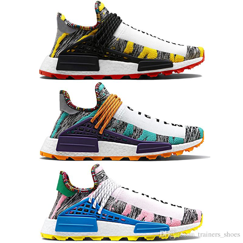 80f5efca3955d Discount Creme Nerd X Human Race Trail Solar Afro Pack Running Shoes Men  Women Pharrell Williams HU SOLARHU Cheap Trainer Sport Sneaker 5 12 Hoka  Running ...