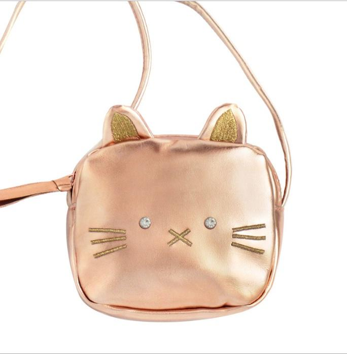 eadf2b55ac5 Lovely Cartoon Cat Leather Crossbody Bags For Girls Fashion Kids Boutique  Accessories Rose Gold Little Girls Shoulder Bags High Quality Teen Girls  Bags ...