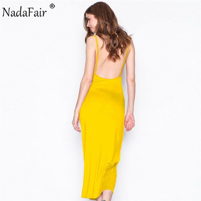 a7d017b3307a Nadafair Summer O Neck Sleeveless Backless Solid Strap Dress For Women Casual  Loose Plus Size Maxi Beach Dress Velvet Dress Knee Length Dresses From ...