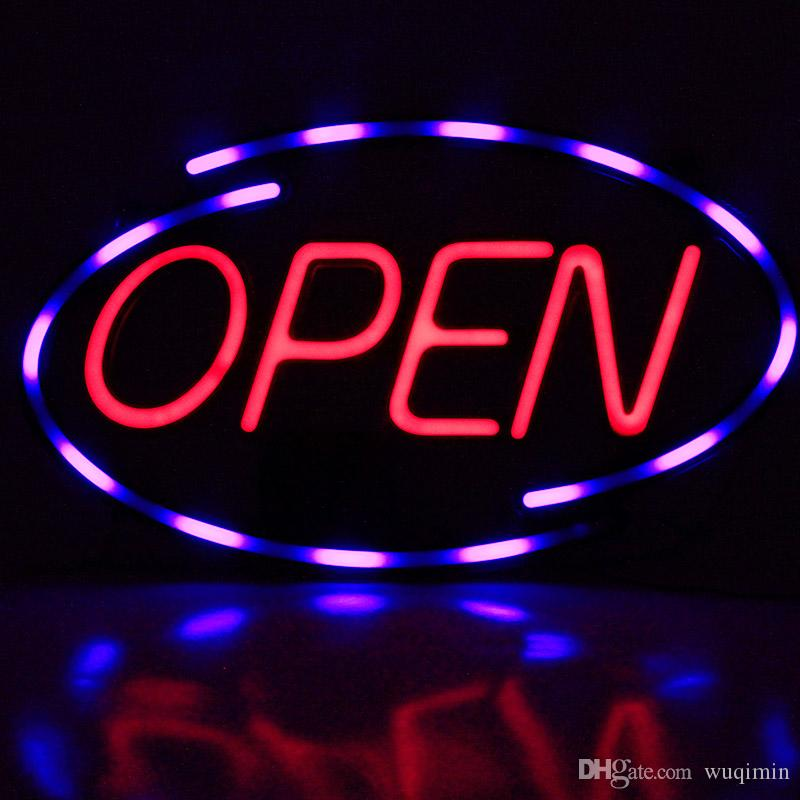 Customized Design Outdoor acrylic Electronic Signs bar neon open sign board advertising open sign led open sign