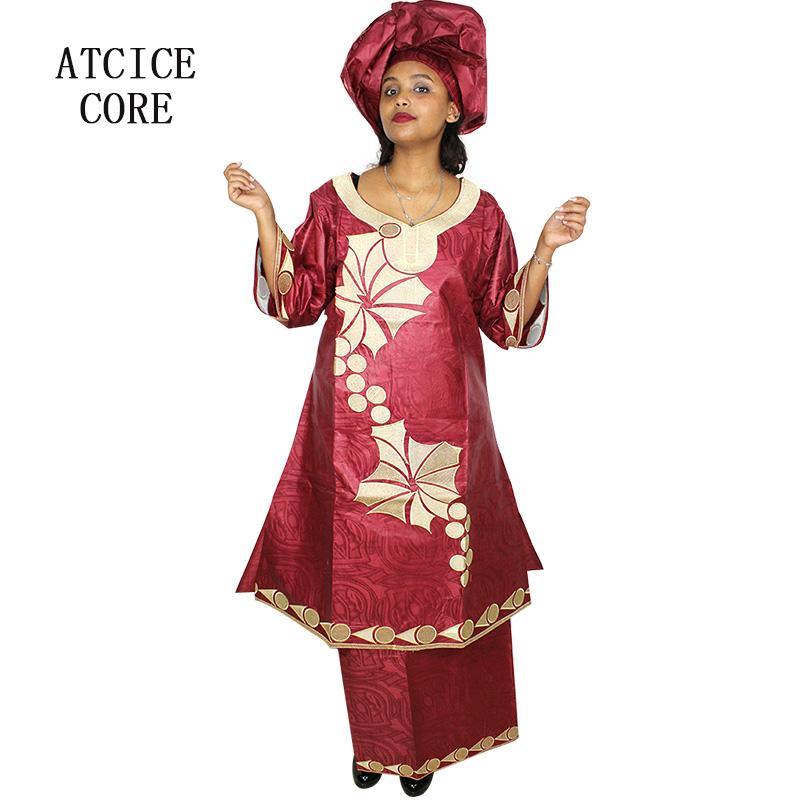 59d0d2034 Compre Vestidos Africanos Para As Mulheres FRETE GRÁTIS NOVO DESIGN DE  FORMA AFRICANO BAZIN RICE BORDADO LONGO RAPPER Roupas SP18   De Morph1ne