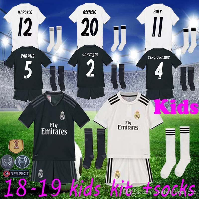 259a4fe4e Real Madrid Jerseys Kids Kit Boys 2018 2019 Soccer Jersey MODRIC ...