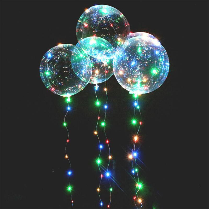 20 inch LED Bobo Ball Flashing wave led lights string flash colorful lights clear balls balloons for Christmas Halloween Wedding Party Decor