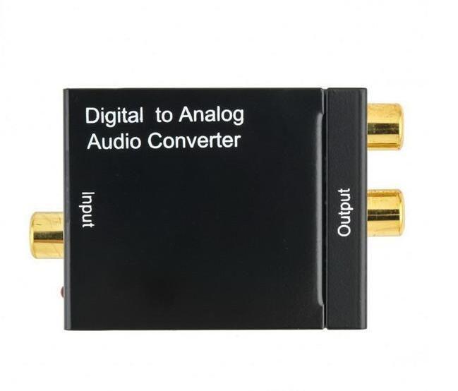 Le signal coaxial RCA Toslink optique d'Adaptador de Digital au câble adaptateur analogique de convertisseur audio