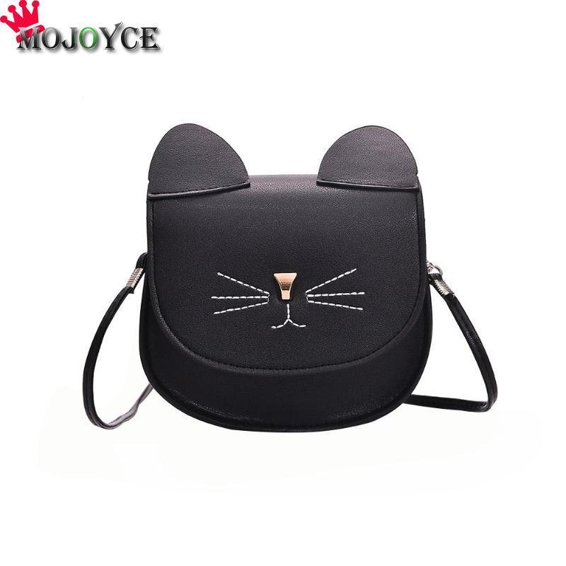 2018 New PU Leather Crossbody Bag Cute Women Cat Shape Messenger Bag Fashion  Flap Shoulder Bags Mini Lovely Messenger Handbags 2018 New Handbags For  Sale ... 6d70353cddd0c