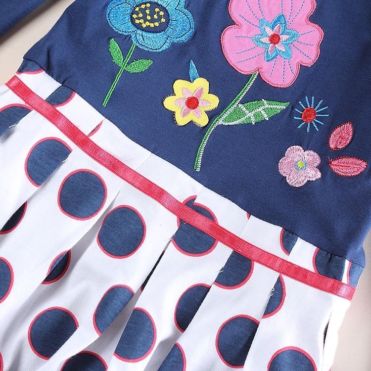 2-8y Girls party dresses nova kids wear hot selling children's clothing long sleeve fashion wedding girls dresses baby frocks