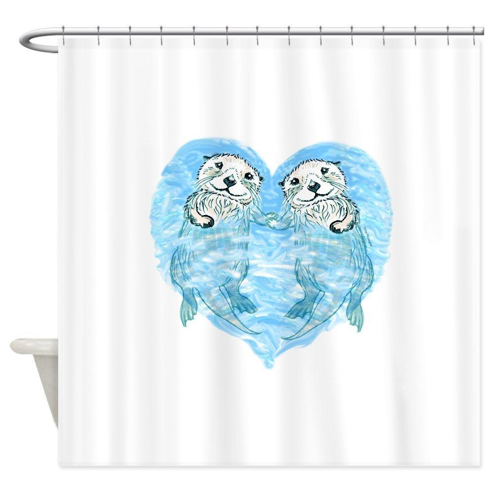 2018 Sea Otters Holding Hands Decorative Fabric Shower Curtain 69x70 From Waxer 3684