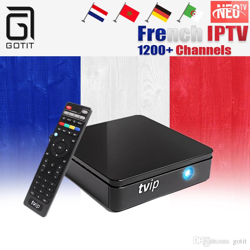 TVIP412 Android Linux Smart TV Box Dual-OS with NEOTV French IPTV Arabic  Belgium Morocco Set top box