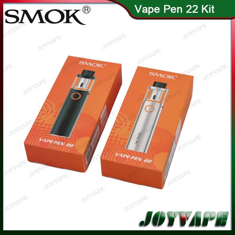 100% Original SMOK Vape Pen 22 Kit 1650mah Buit-in Battery With Top-Cap Filling Tank AIO Starter Kit With Structure Detachable 9089