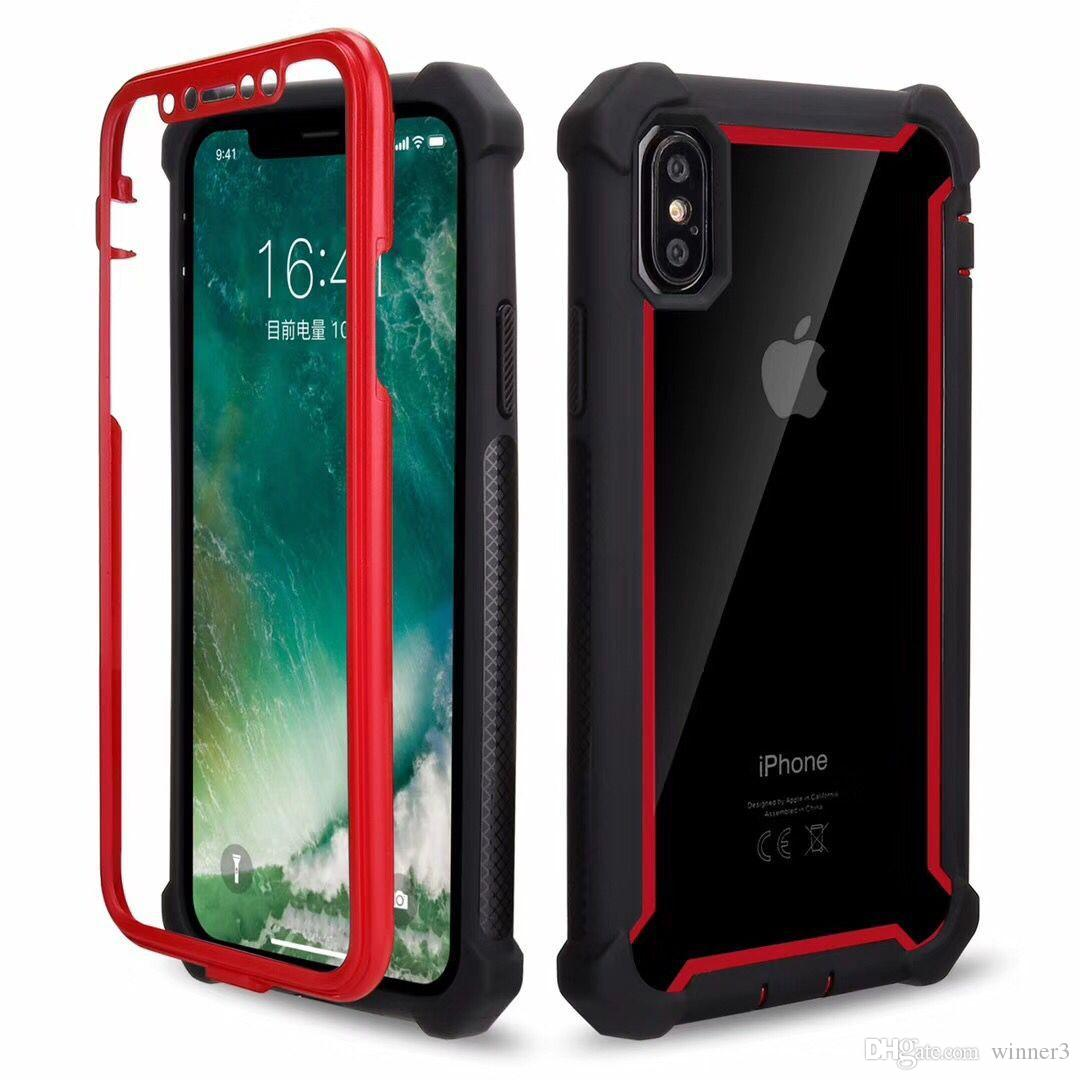 2018 For Iphone Xr Case Full Body Clear Soft Tpu Hard Pc Back Cover