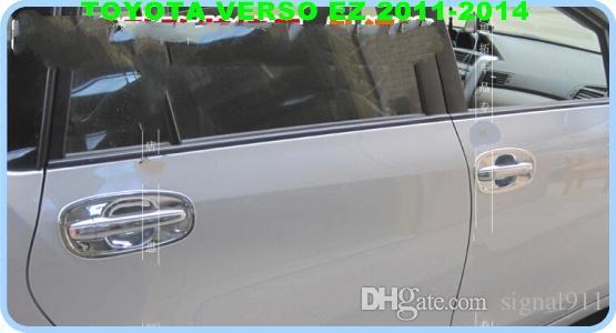 送料無料!トヨタverso EZ 2011-2014のための高品質ABS Chrome の扉のドアのハンドルの装飾ガードスカッフボウル