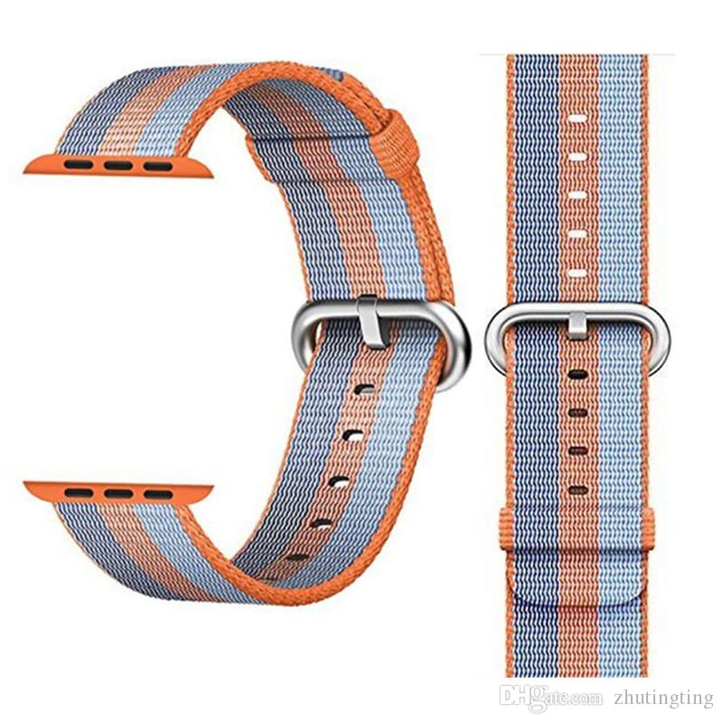 New Woven Nylon Wrist Band Strap Bracelet For Apple Watch iWatch Series 38/42MM China Sell
