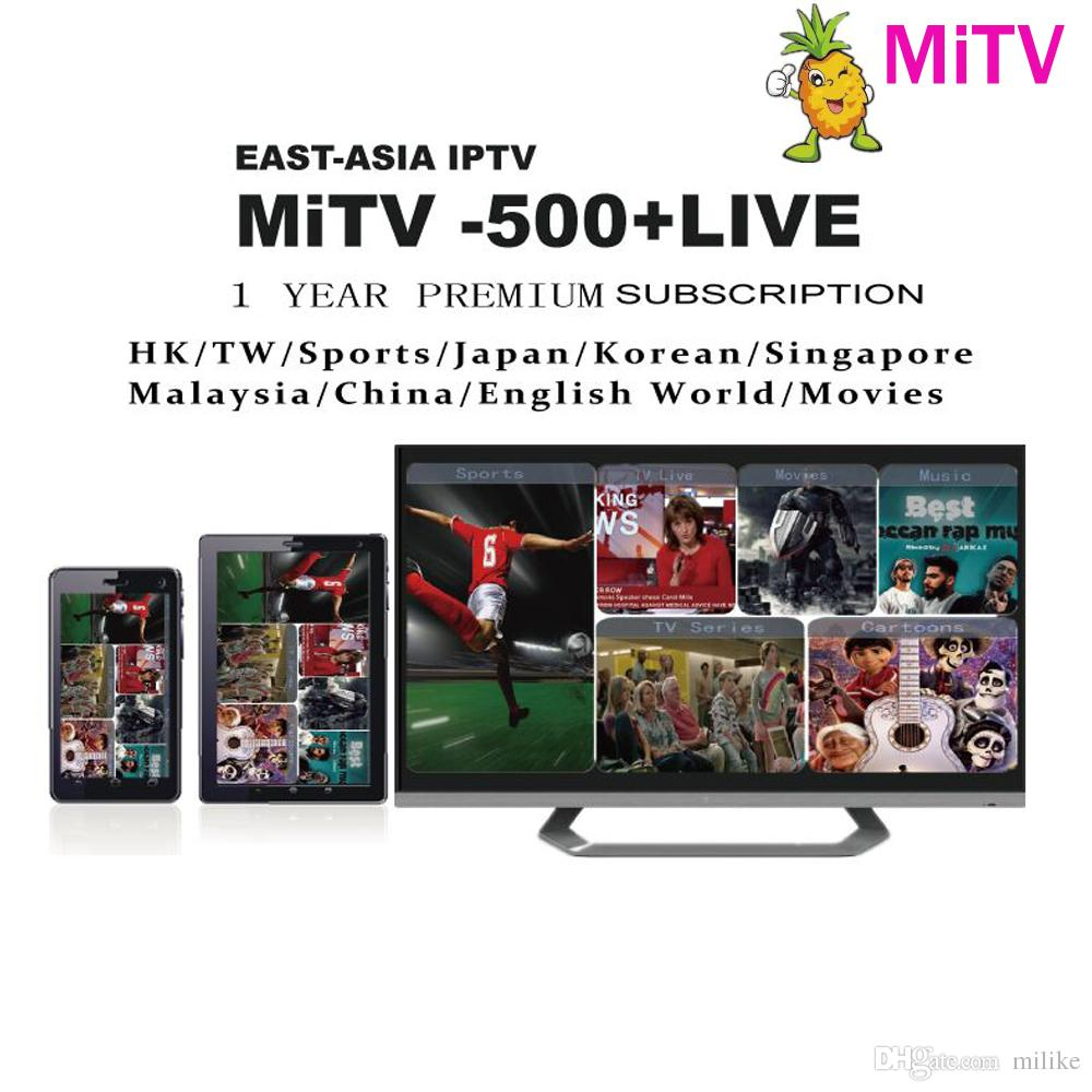Streaming Asian iptv channels 500 Live MiTV 1year apk subscription for  Japanese Korean Chinese TW HK Singapore Malaysia for android tv box