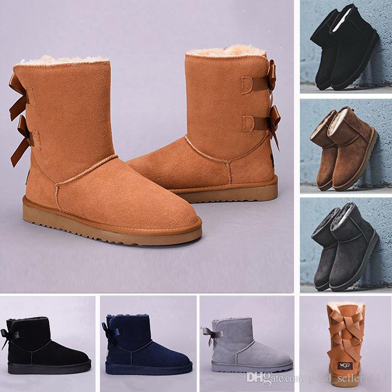 62784e3ebf5 Cheap WGG Leather Australia Classic Knee Half Boots Ankle Boots UGS ...
