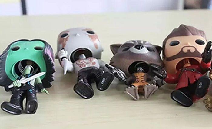 12pcs DHL Chanycore Funko pop Bobble Head Groot Star-Lord Rocket Drax Gamora Tree man Guardians of the Galaxy Anime Vinyl PVC model toy