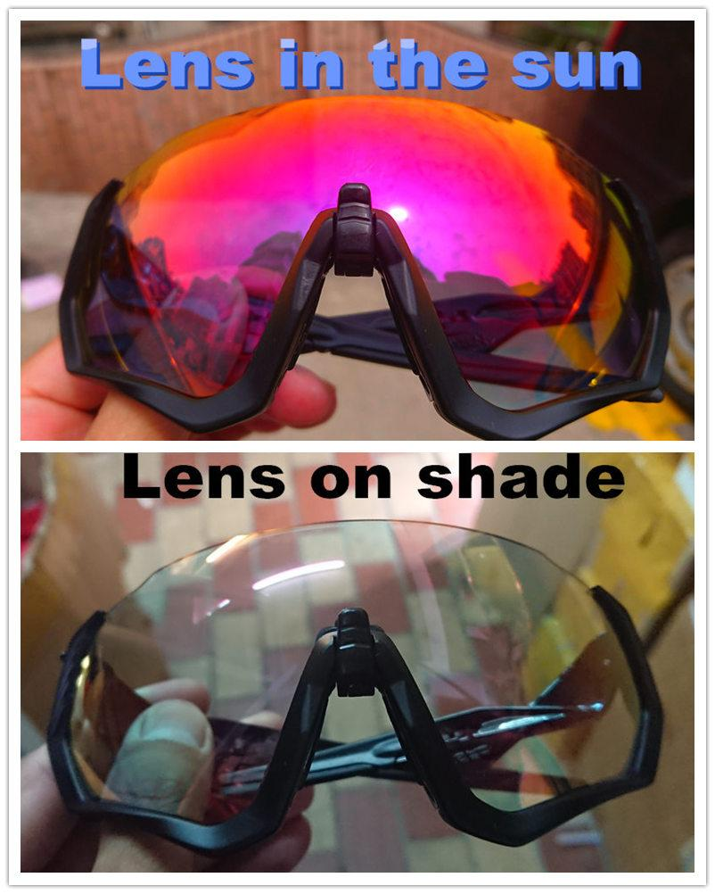 7ed4dd3e19 2019 Flight Jacket Red Photochromic Cycling Glasses Men Women Bike Eyewear  Outdoor Sport Bicycle 3 Generation Photochromic Sunglasses From Capsicum,  ...