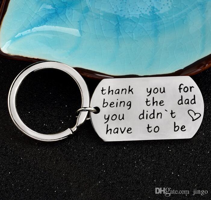DHL Merci d'être le papa, vous devez être en acier inoxydable Porte-clés Porte-clés Cadeaux de la fête des Pères Cadeaux pour Thanksgiving ns