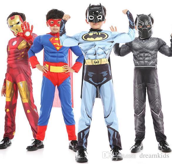 65610da45 Compre Chicos Navideños Muscle Hero Capitán América Traje SpiderMan Hulk  Avengers Disfraces Cosplay Para Niños Boy Envío Gratis A  14.62 Del  Dreamkids ...