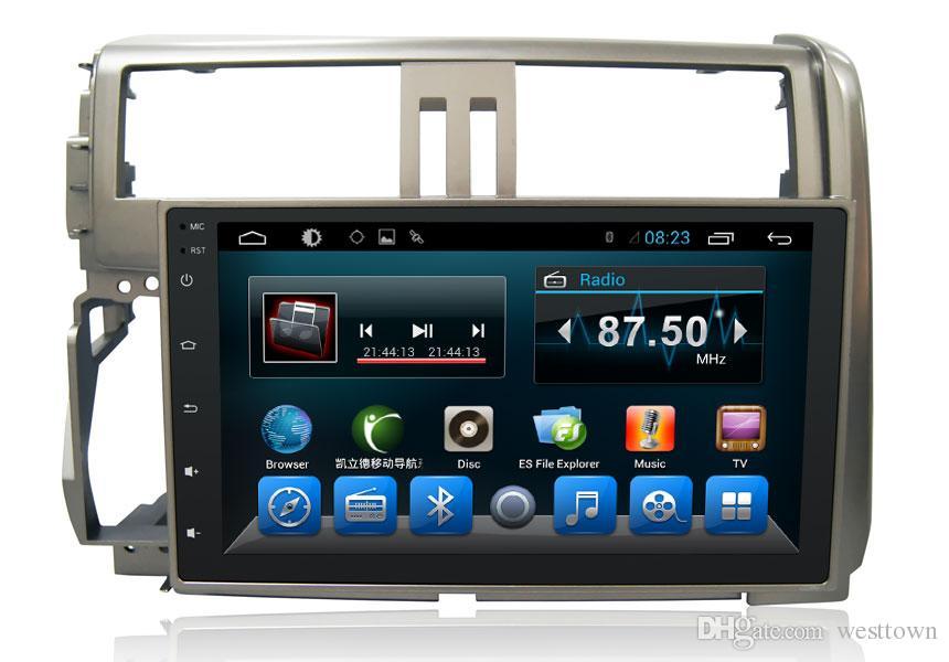 A7 Quad Core Carro DVD Video Player de Áudio Sistema de Navegação Toyota Prado 2010 Automóvel Eletrônica Navegação GPS WIFN