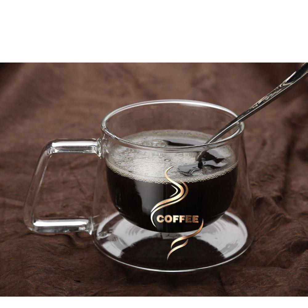 200ml Double Layers Borosilicate Glass Coffee Mug Heat Resistance Tea  Moomin Milk Cup Drinkware Water Bottle