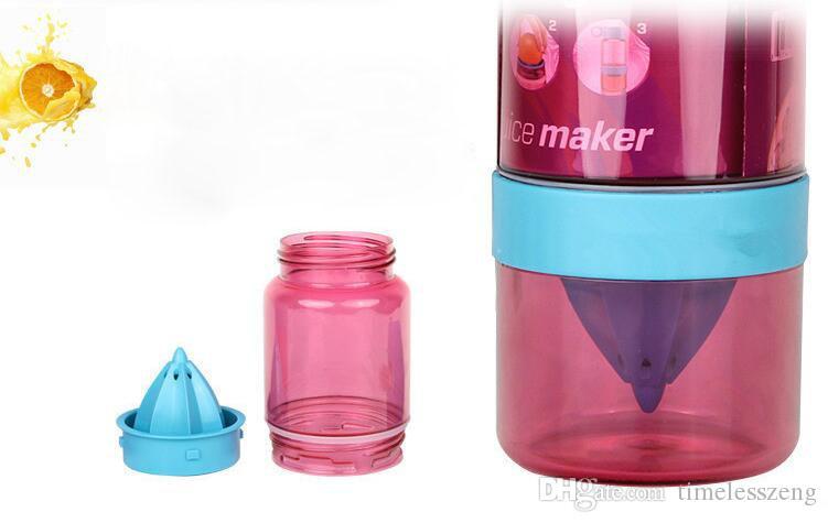 Yaratıcı çocuk manuel suyu bardağı yaz hediye ile 460 ml limon fincan meyve infüzyon şişe saman taşınabilir su ısıtıcısı