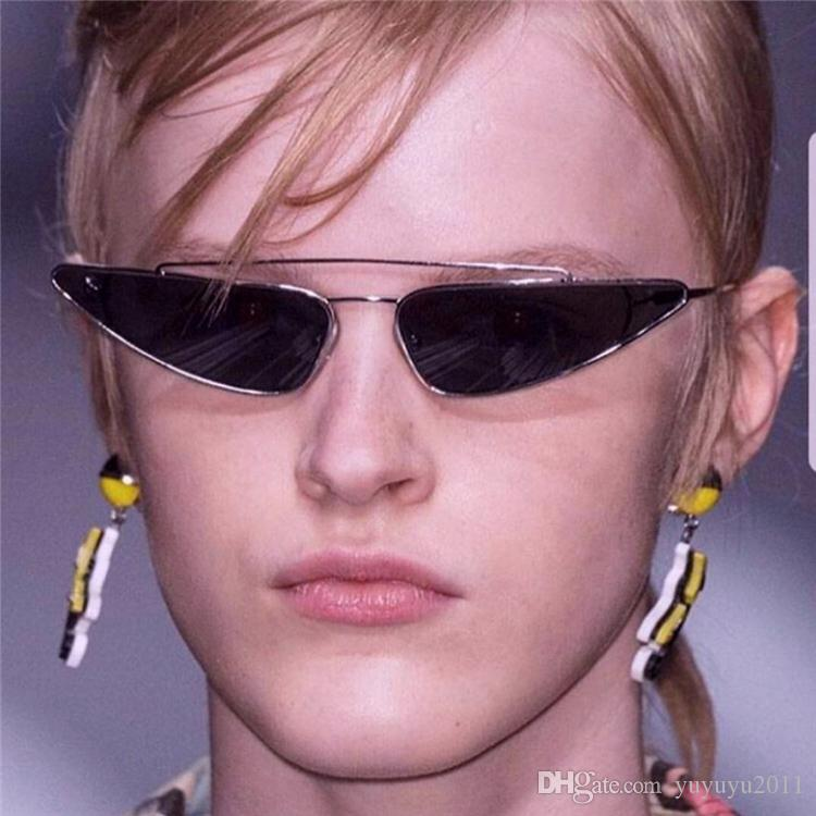 e424cadfe6 Fashion Small Cat Eye Sunglasses Women 2018 Brand Designer Triangle Womens  Sunglasses Double Bridges Retro Pink Eyewear UV400 FDY170131 Glasses For  Men Mens ...