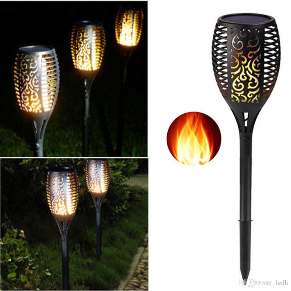 2018 Solar Torch Lights 96 Leds Waterproof Dancing Flame How To Build Powered Romantic Landscape Decoration For Garden Path Fence Stake Flickering Light From Ledh
