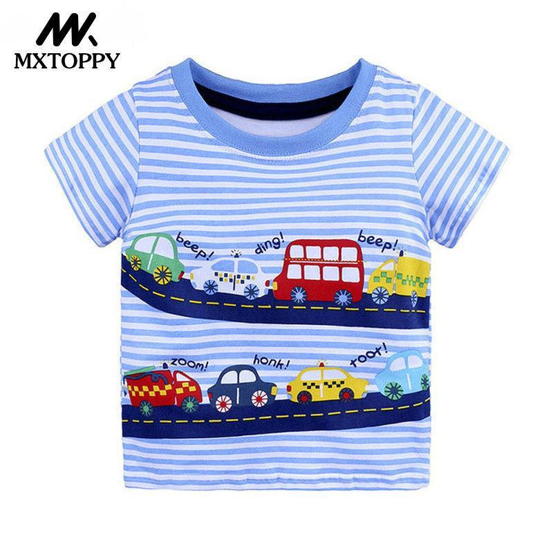 545db47488cfe Compre MXTOPPY Boys Tops 2018 Summer Fashion Kid Camisetas Niños Ropa Niños  Camiseta Niños Camiseta Algodón Estampado Ropa Infantil Y1891308 A  16.74  Del ...