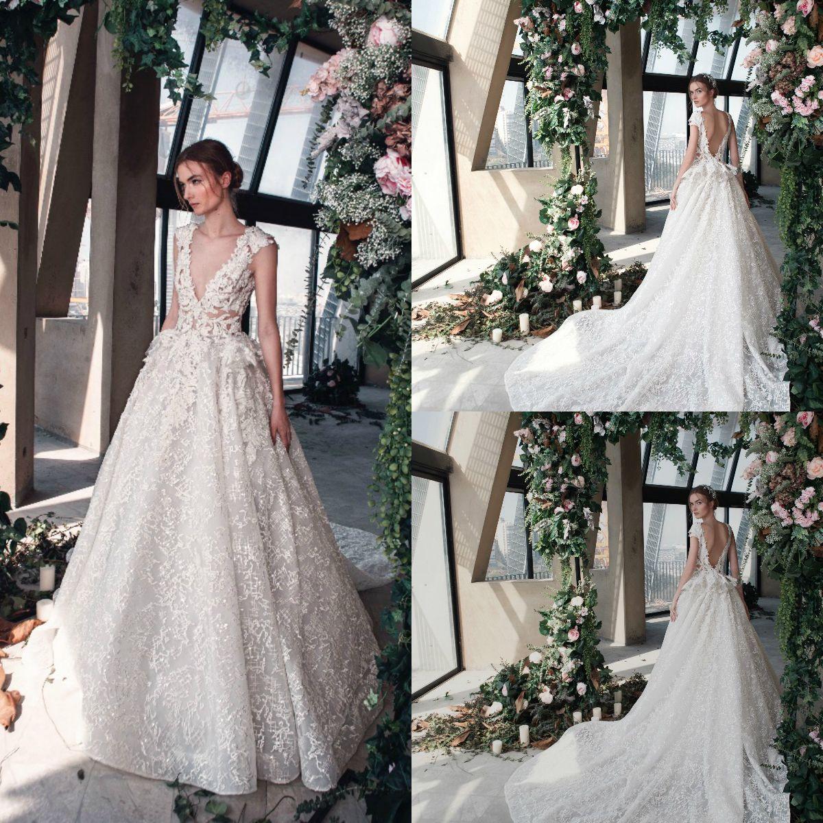 Discount La Mariée Spring 2019 Tony Ward Wedding Dresses Deep V Neck  Sequins Backless Sashes Lace Sleeveless Bridal Gowns Vestidos De Noiva  Wedding Dresses ... d9d8a268473b
