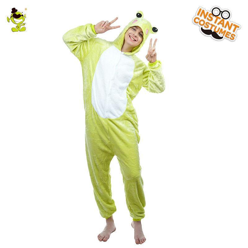 6293241d75 Adult Men s Animal Frog Pajamas Costume Fancy Dress Sleepwear ...