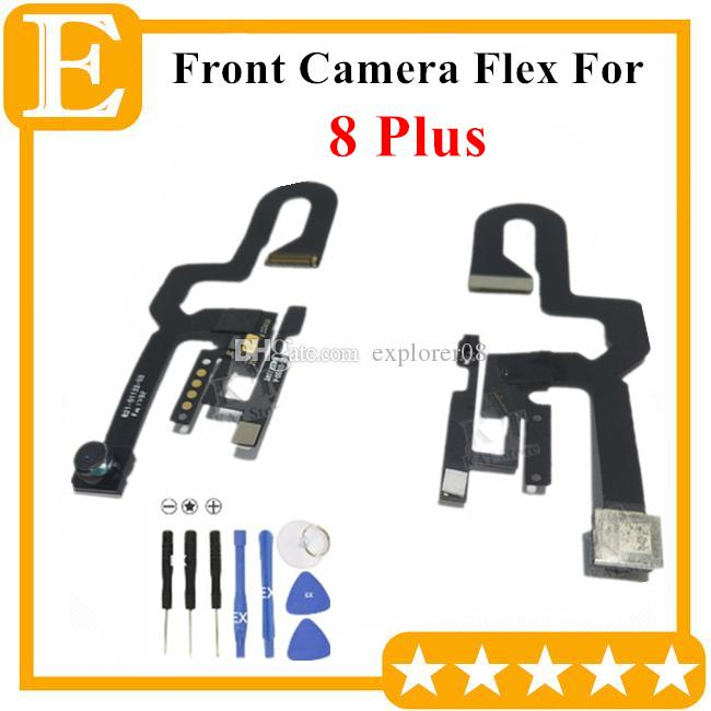 100% OEM Front Camera For iPhone 7G 8+ 8 Plus Small Facing Camera Module With Proximity Light Sensor Flex Cable Replacement Parts