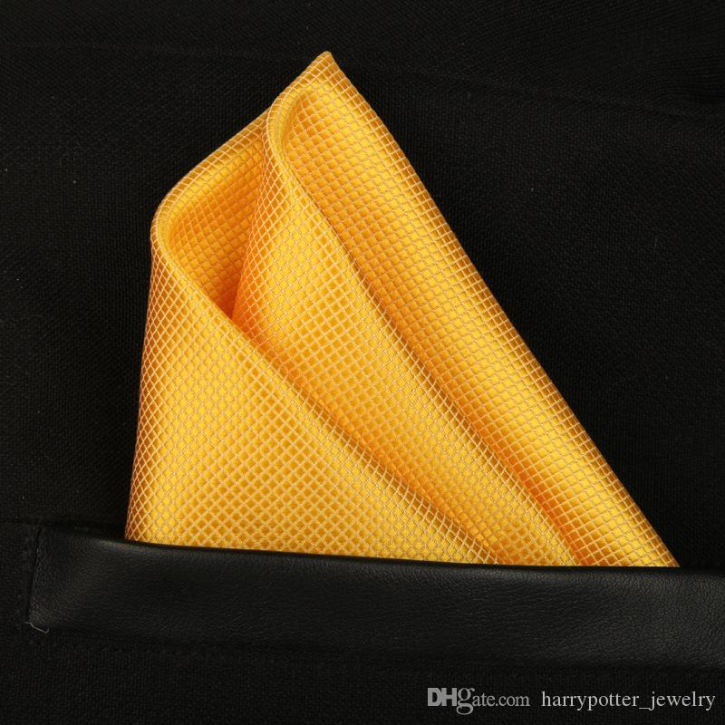 New Shiny Solid Full Square Kerchief Handkerchief Gentleman Hanky Cravat for Wedding Groom Fashion Accessories drop ship BY DHL