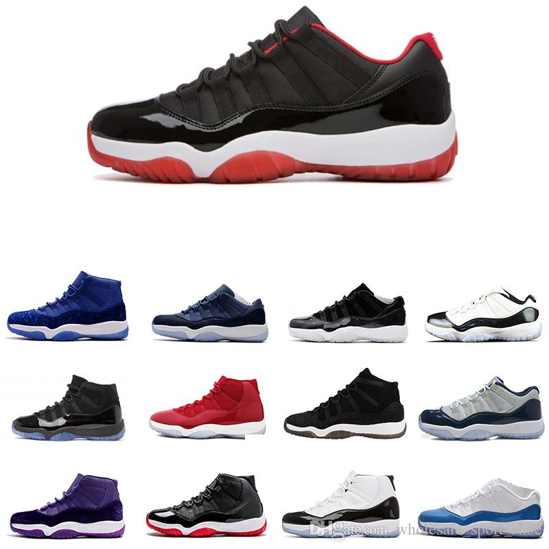 d22a2512a05ddd 2019 Drop Ship Wholesale 11 Gym Red 11s Heiress Black Stingray OVO Midnight  Navy Bred Shoes 11s Mens Womens FASHION Basketball Sneaker From ...